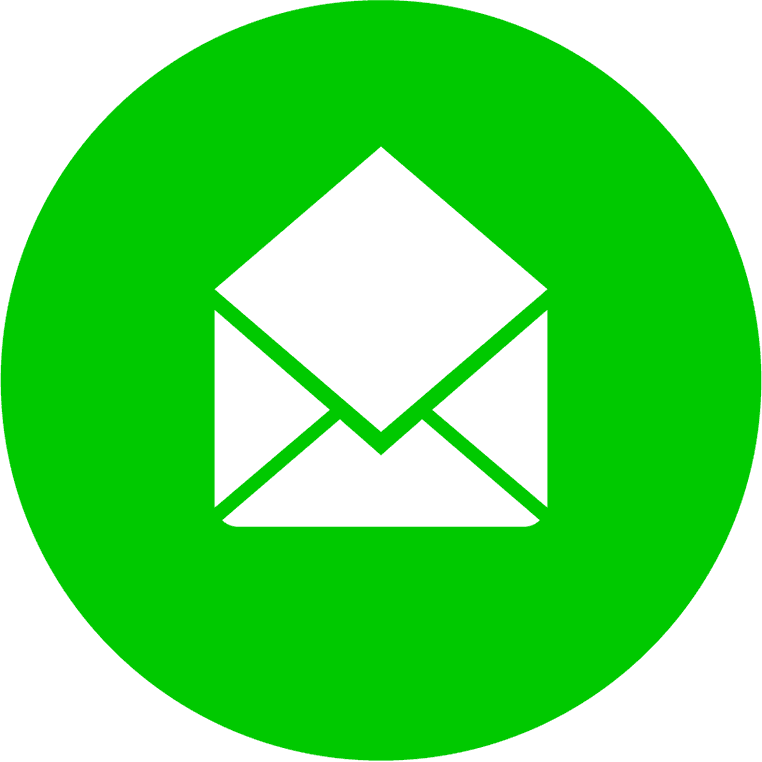 circular green email icon