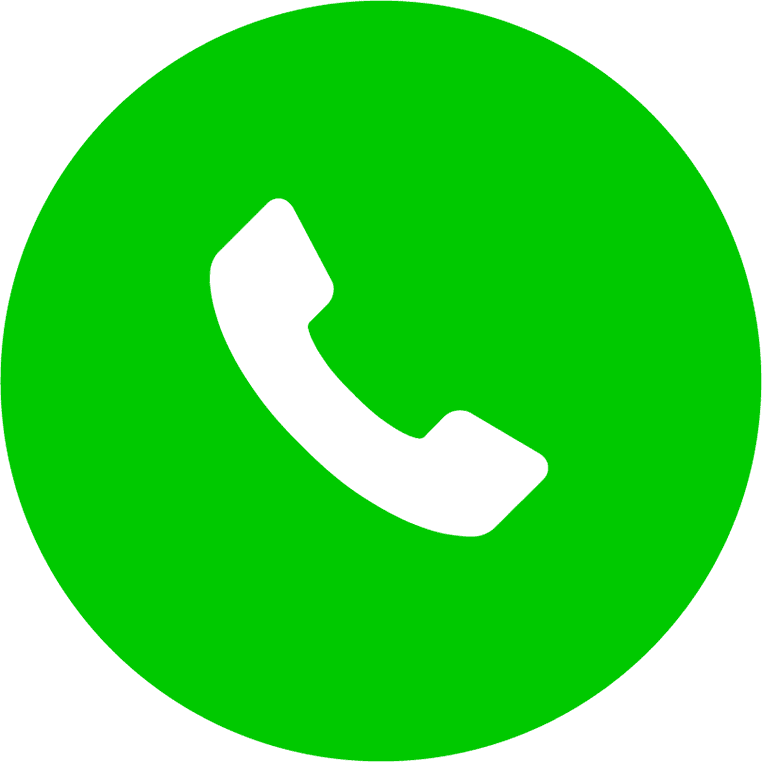 circular green phone icon