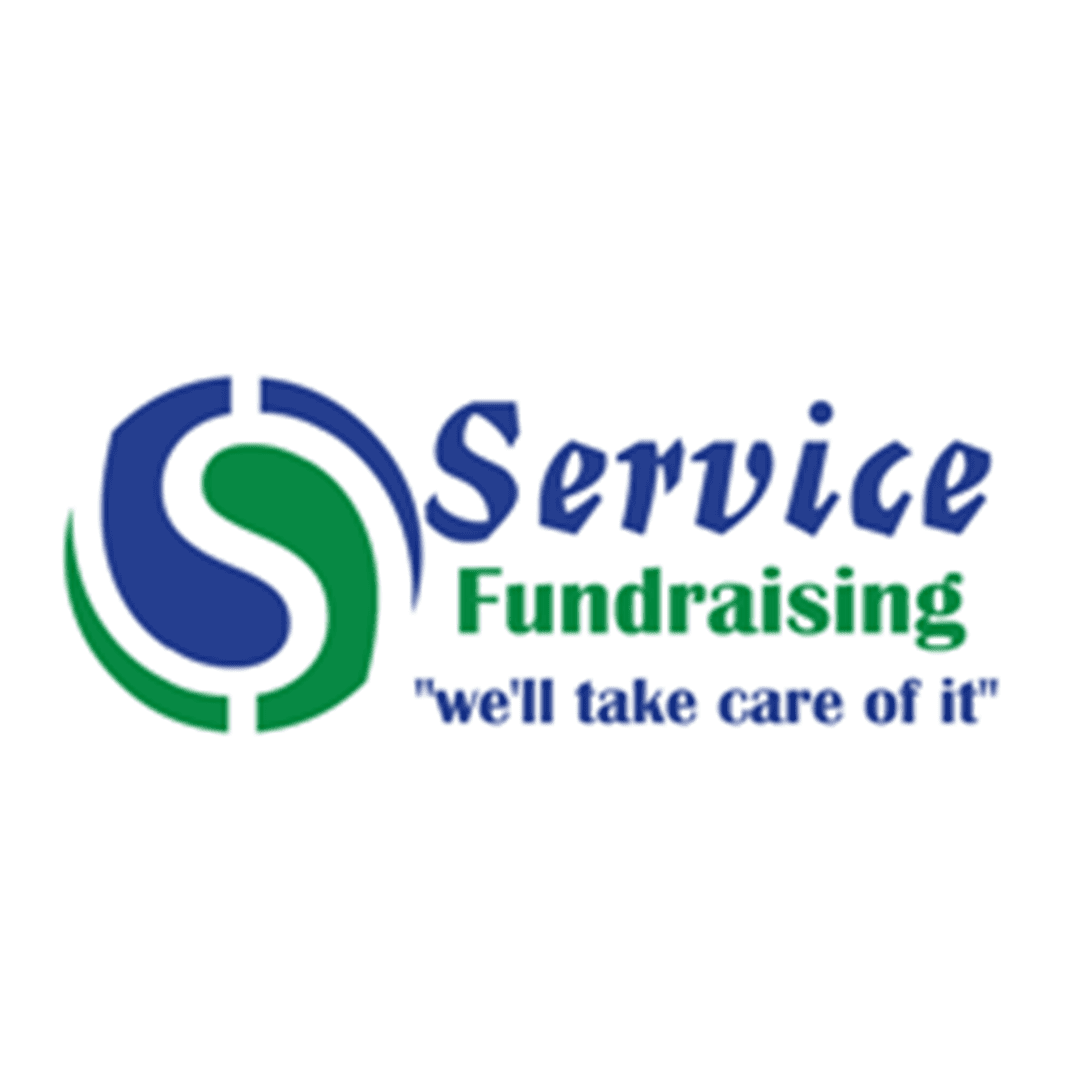 service fundraising green and blue logo