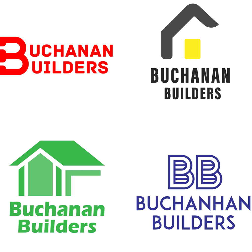 4 buchanan builders logos