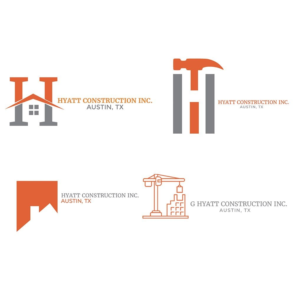 G Hyatt Construction Logos
