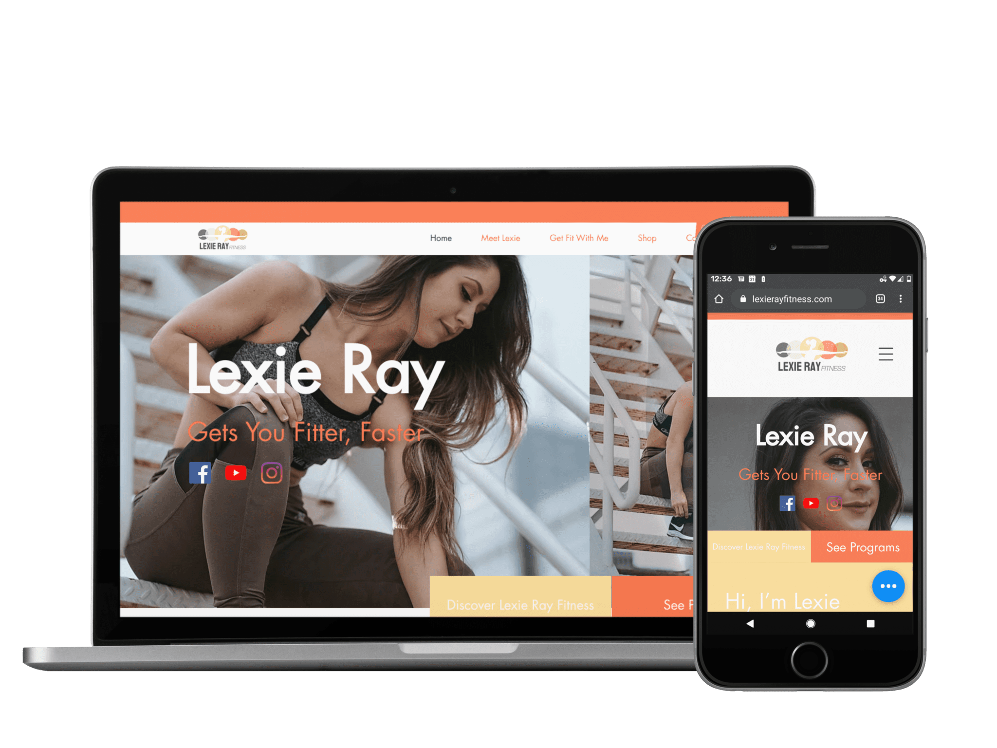Client: Lexie Ray Fitness | Industry: Personal Training | Platform: Wix | Status: In Progress