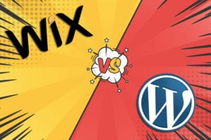 wix vs wordpress faded